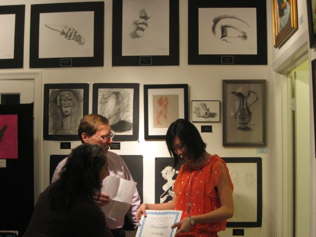Victoria Wang Receiving Second Prize in the Youth Category