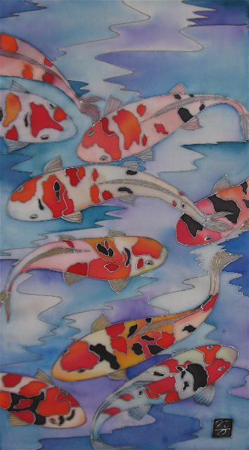 Image of original hand-painting on Habotai silk