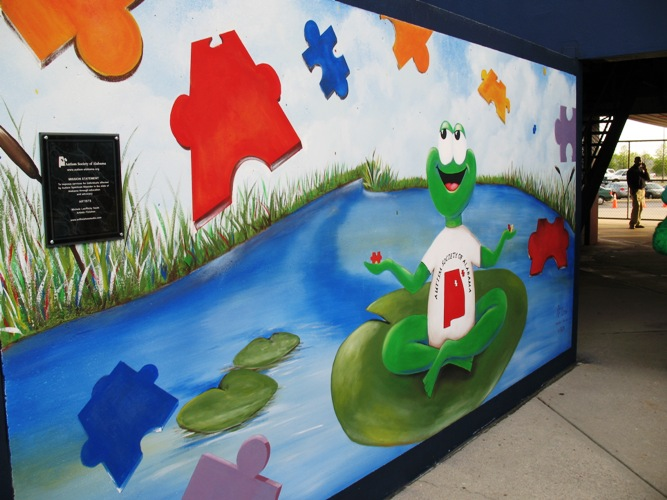 Autism Society of North Alabama Mural in Huntsville