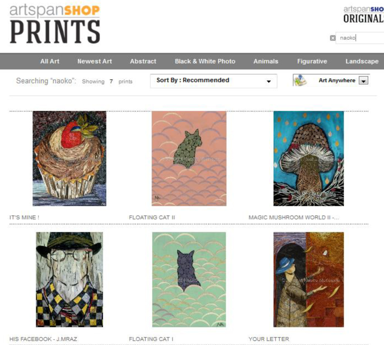 Artspanshop Prints on sale