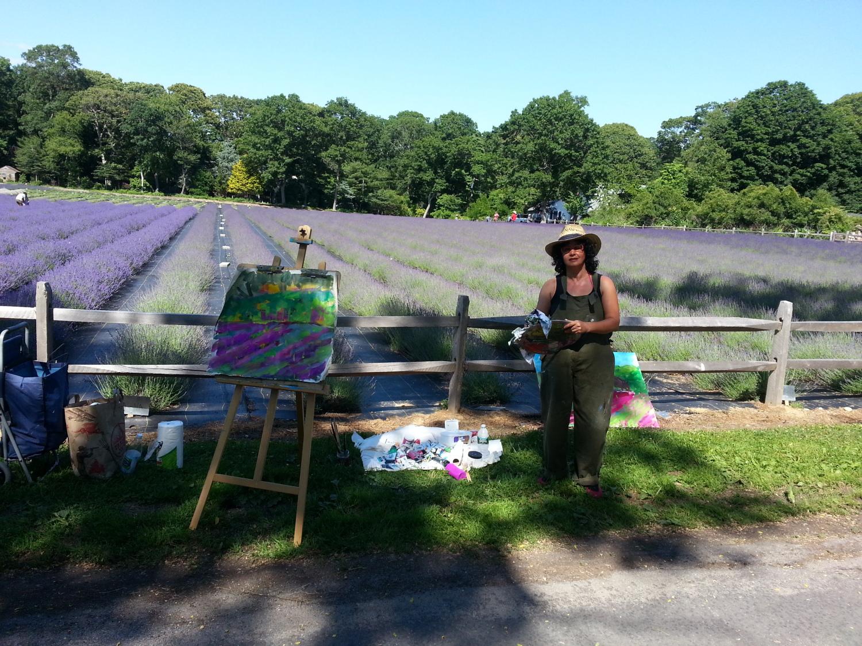 Plein Air painting at the lavendar farm