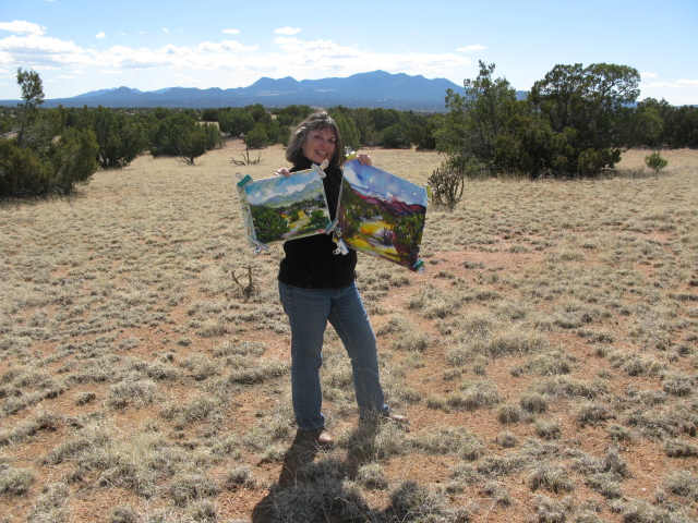 Nancy Dean Kreger Painting in New Mexico