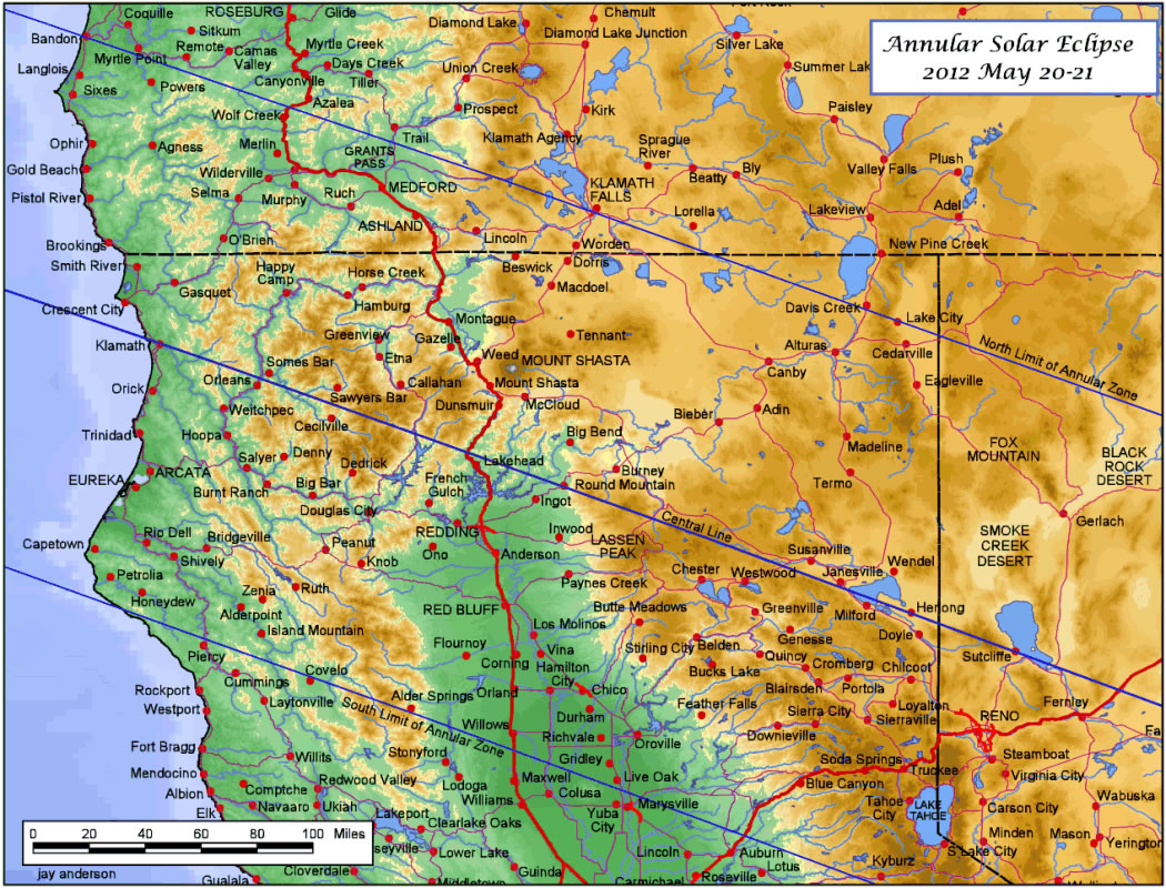 Map Of Northern California And Oregon California Map