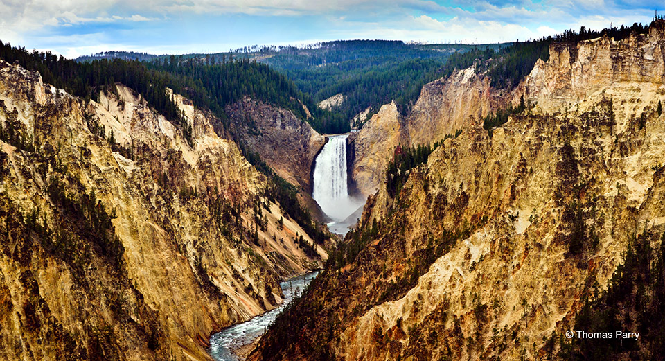 Yellowstone Falls Panorama
