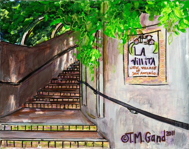 Painting of La Villita stairwell