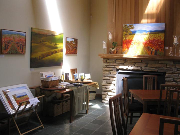 Peggy Sebera paintings at Gary Farrell Winery, Healdsburg, CA