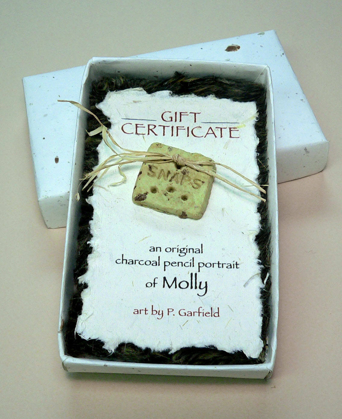 boxed gift certificate