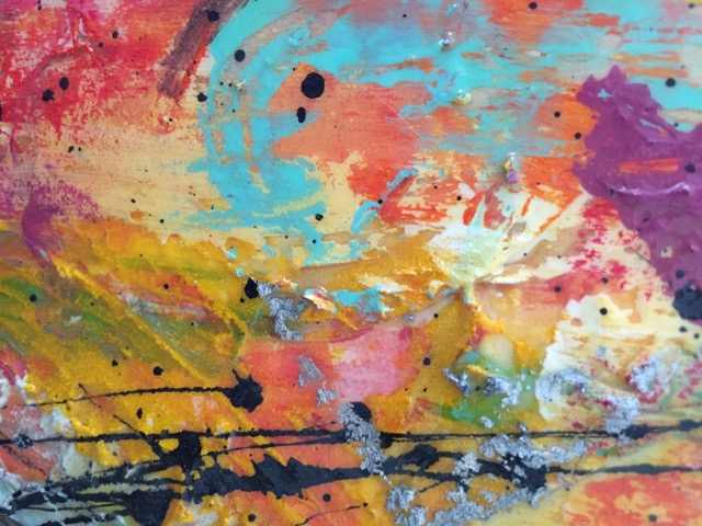 lots of color texture paper and acrylics by austin texas artist