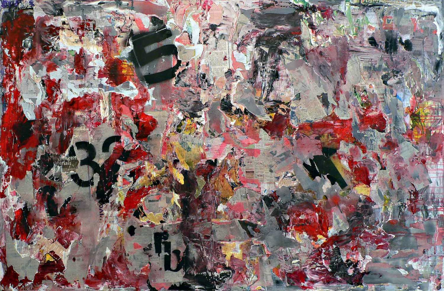 love for sale - 95 x 145 cm - acrylic, spray paint and collage on canvas - 2009