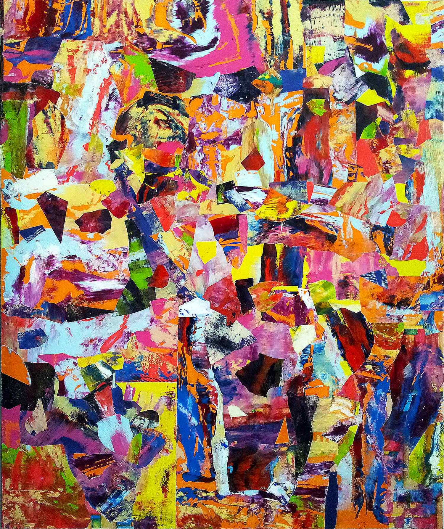 different eyes see different things - 120 x 100 cm - acrylic and collage on canvas - 2015