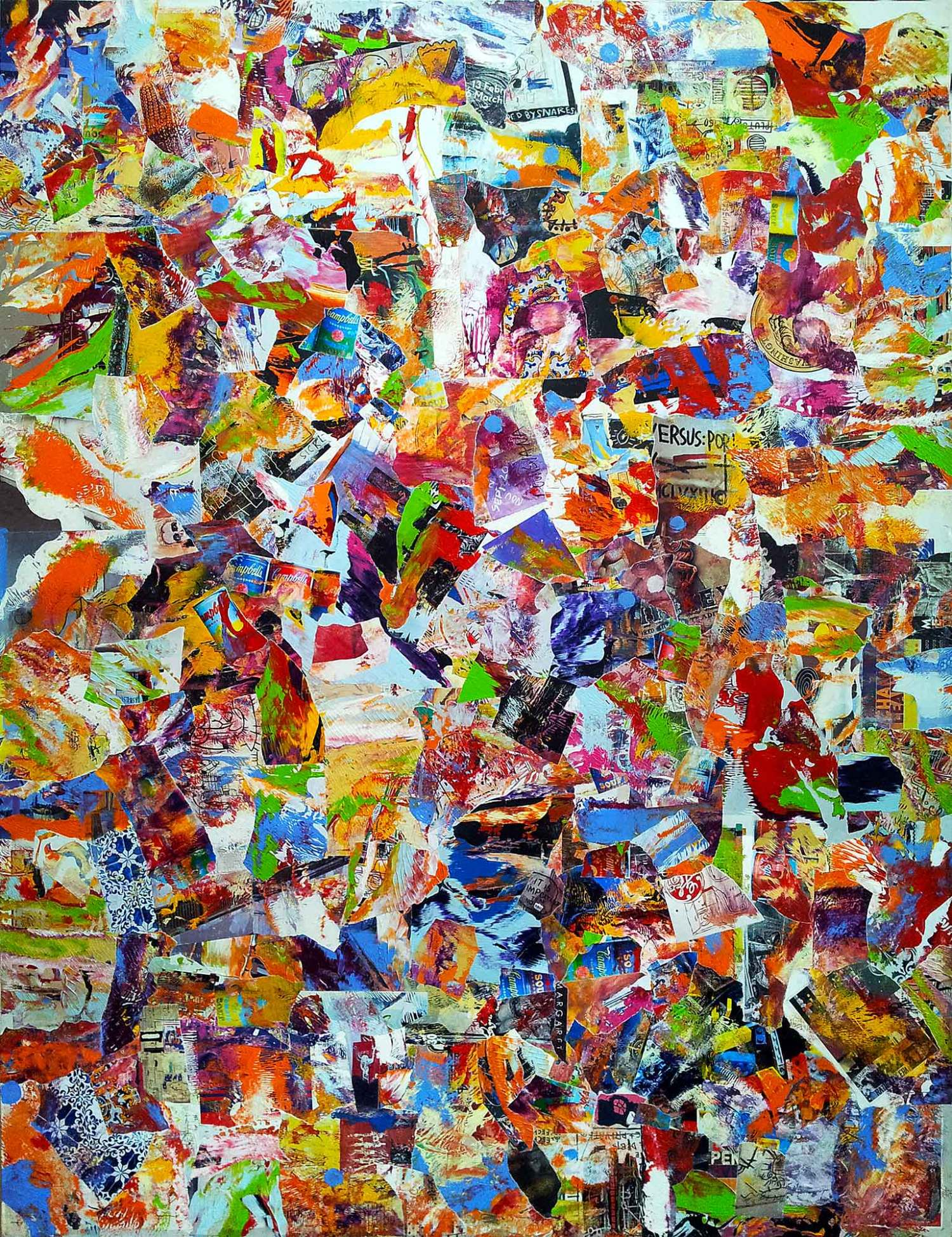 eu faço samba e amor até mais tarde - 150 x 115 cm - acrylic and mixed media on inkjet printings and art catalog pages, mounted on canvas - 2015