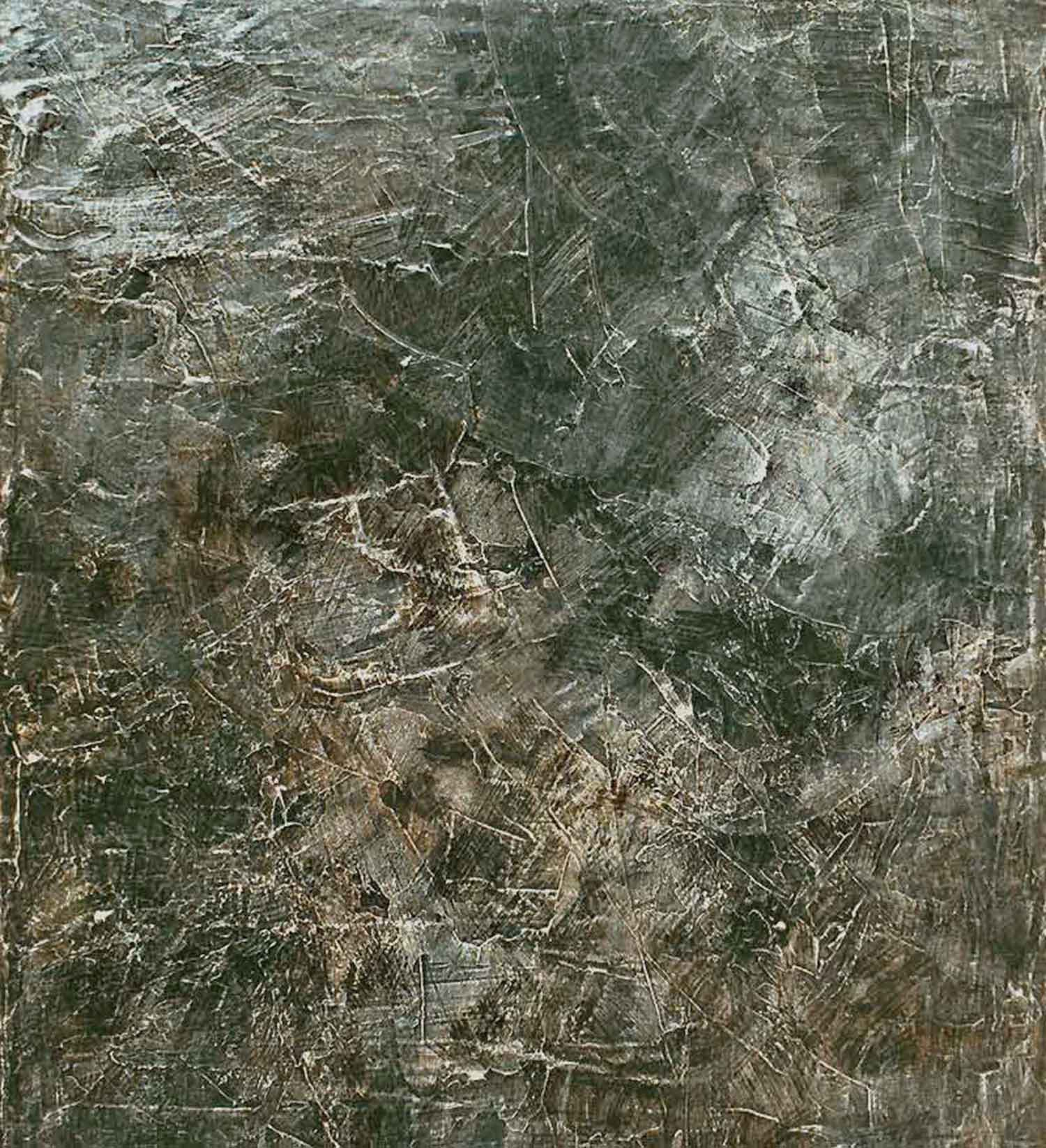 intermission riff - 150 x 132 cm - oil and plaster on canvas - 2001