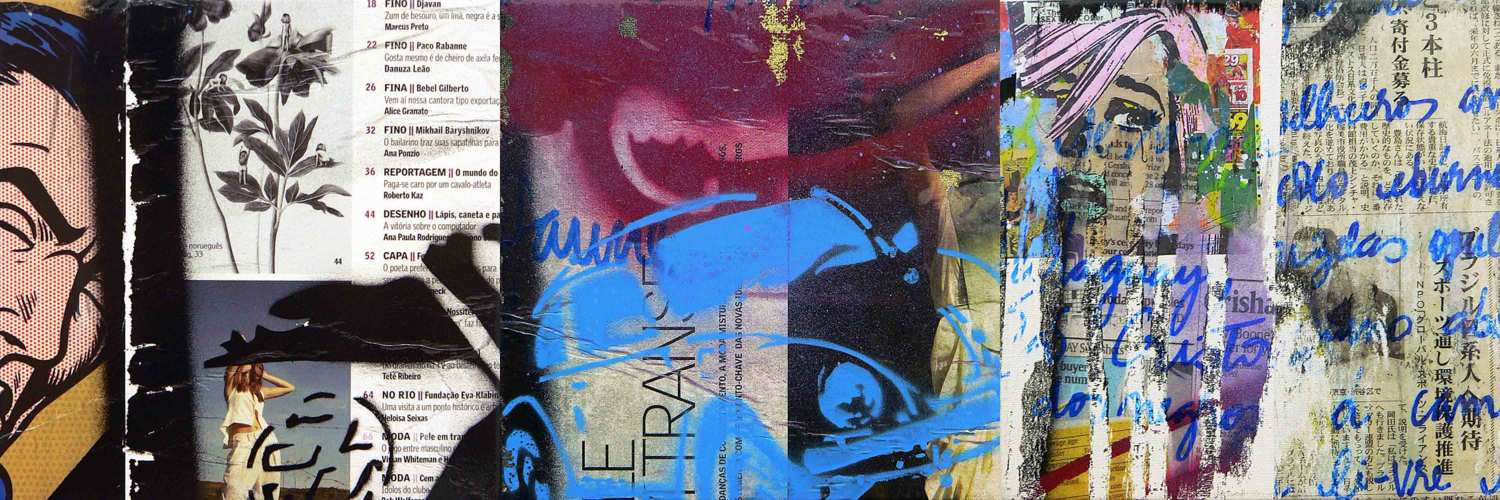 lonely woman - 20 x 20 cm each (3 parts) - mixed media on adhesive vinyl mounted on canvas - 2010