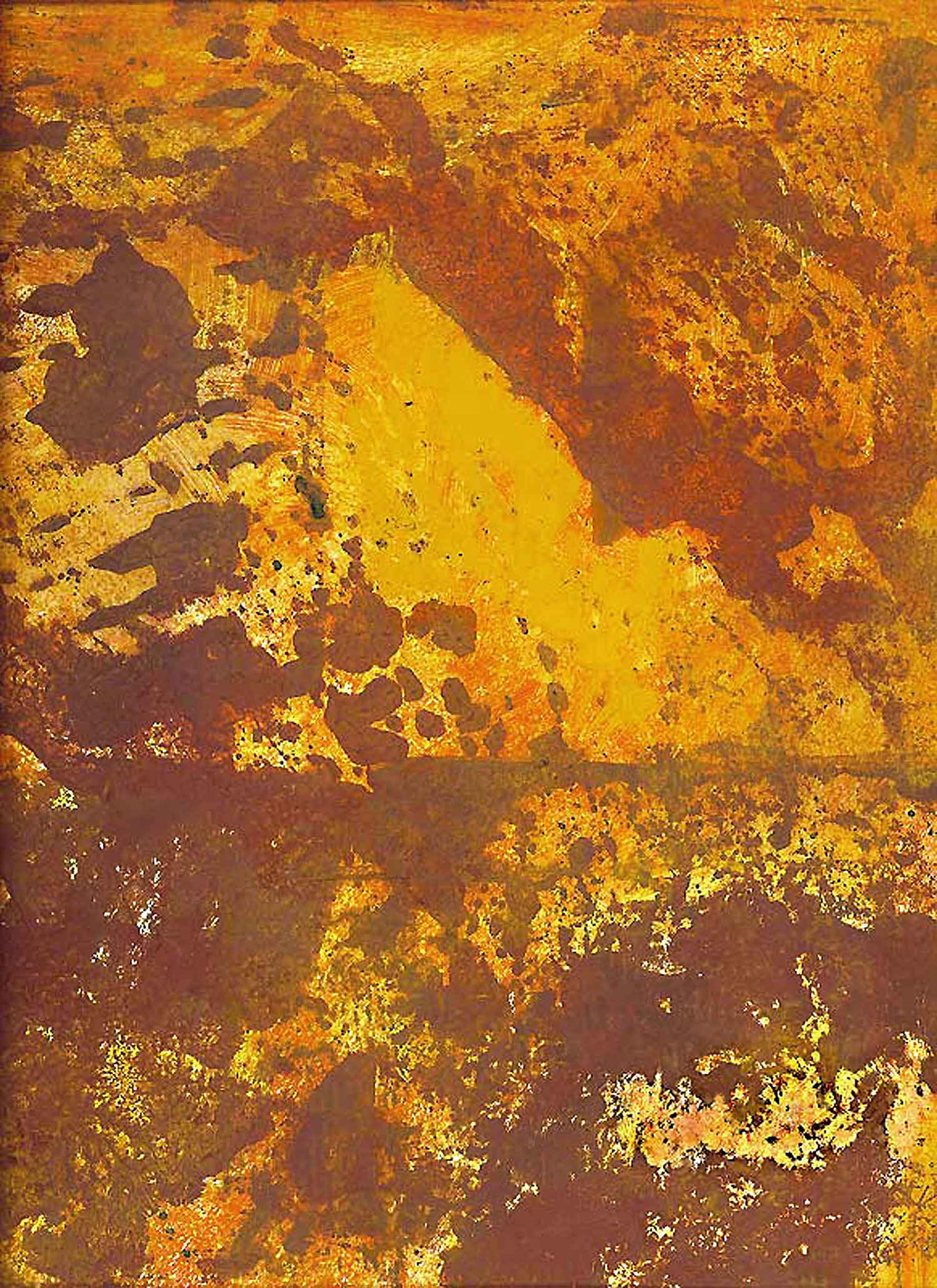 night and day - 172 x 122 cm - acrylic, pigment and glue on vinyl - 2002