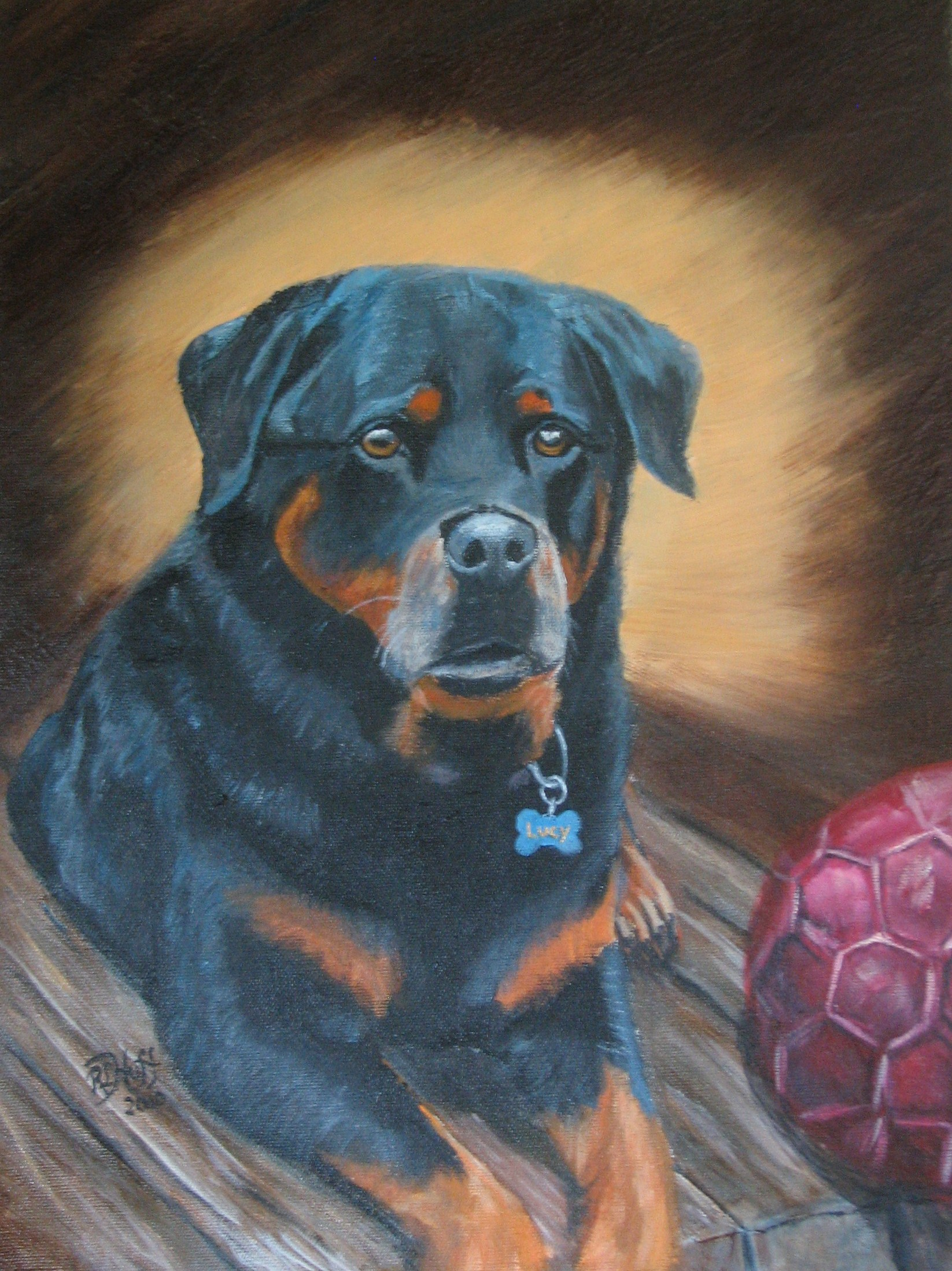 Pet portrait acrylic on canvas