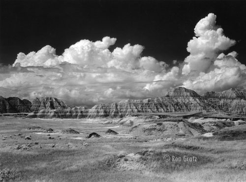Storm Clouds over the Badlands National Park