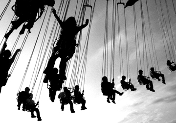 swings ride at western NC state fair