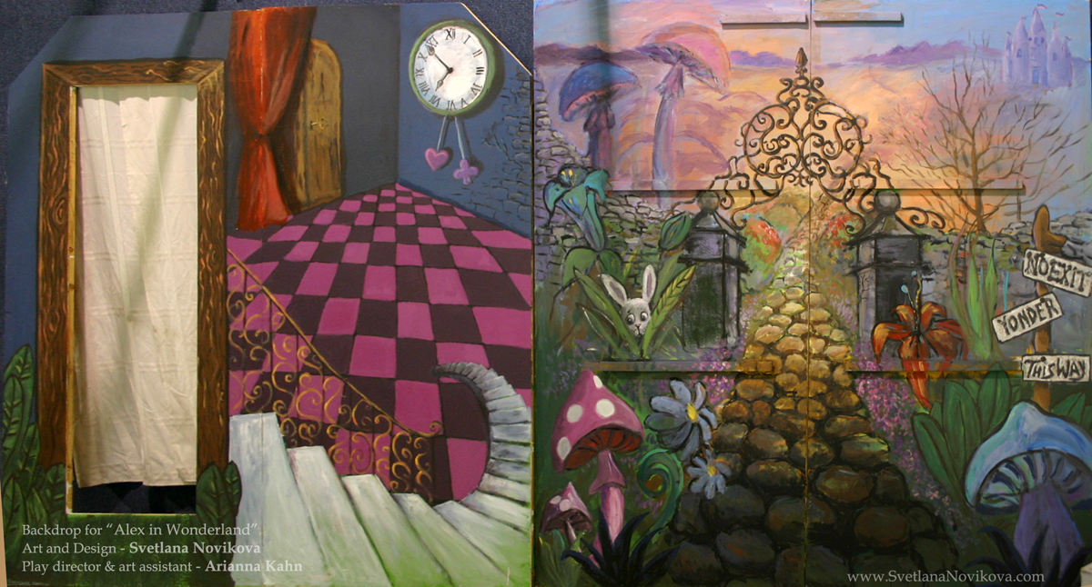 Murals for Alice in wonderland mural