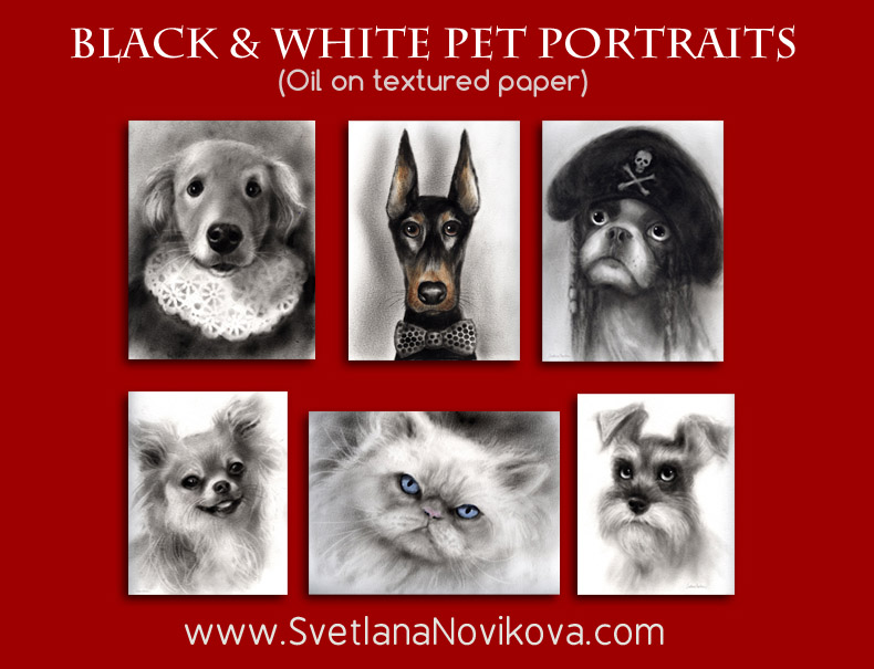 order custom oil pet portraits from photos