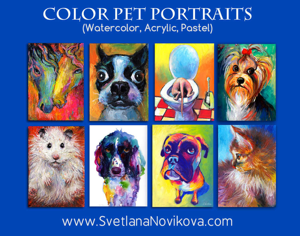 Custom pet portrait from photos by svetlana novikova