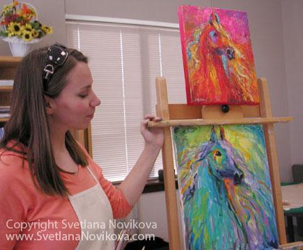 Svetlana Novikova impressionistic painting Demo