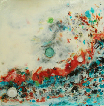 encaustic/glass