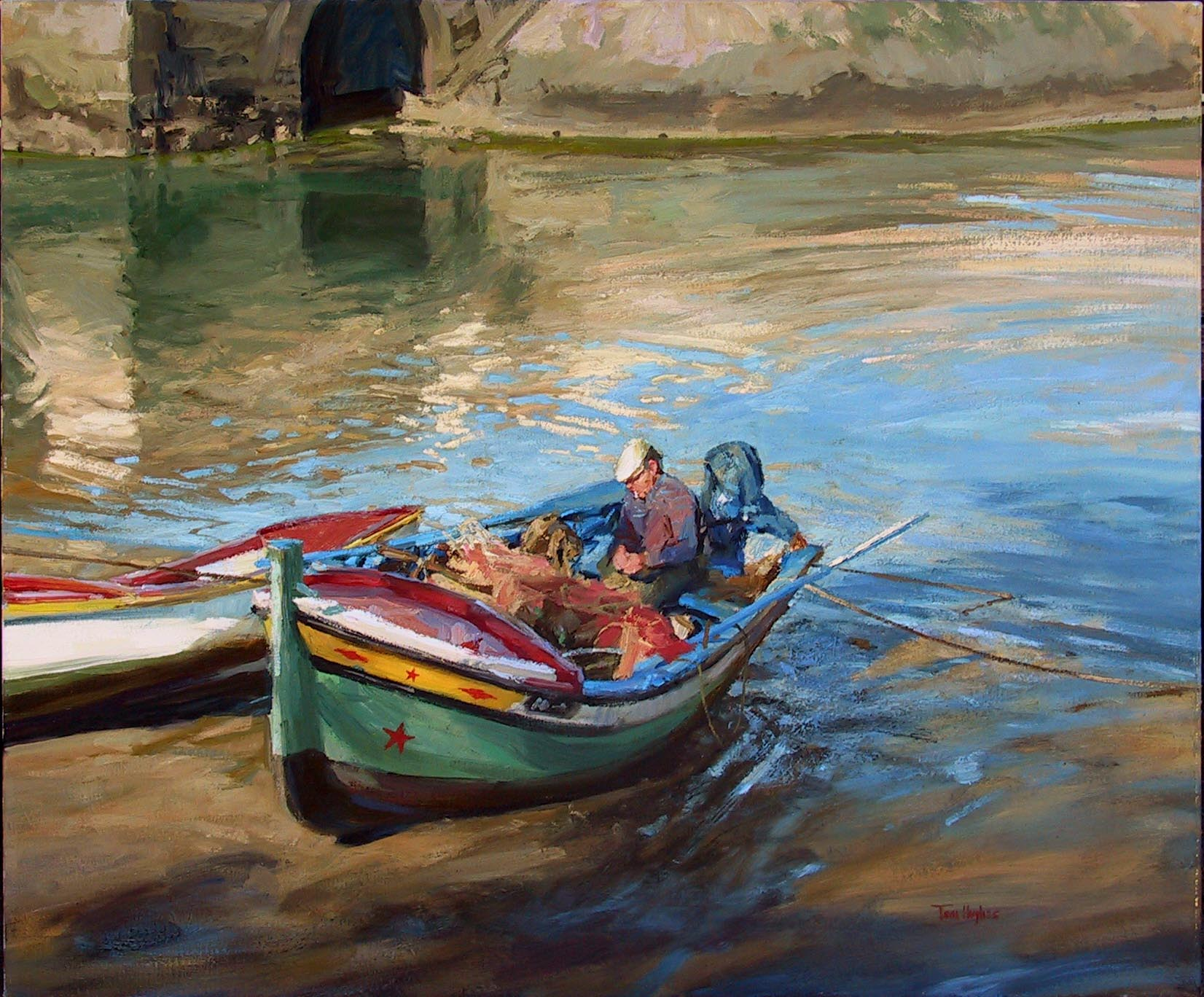 Tom hughes events shows news for Fishing boat painting