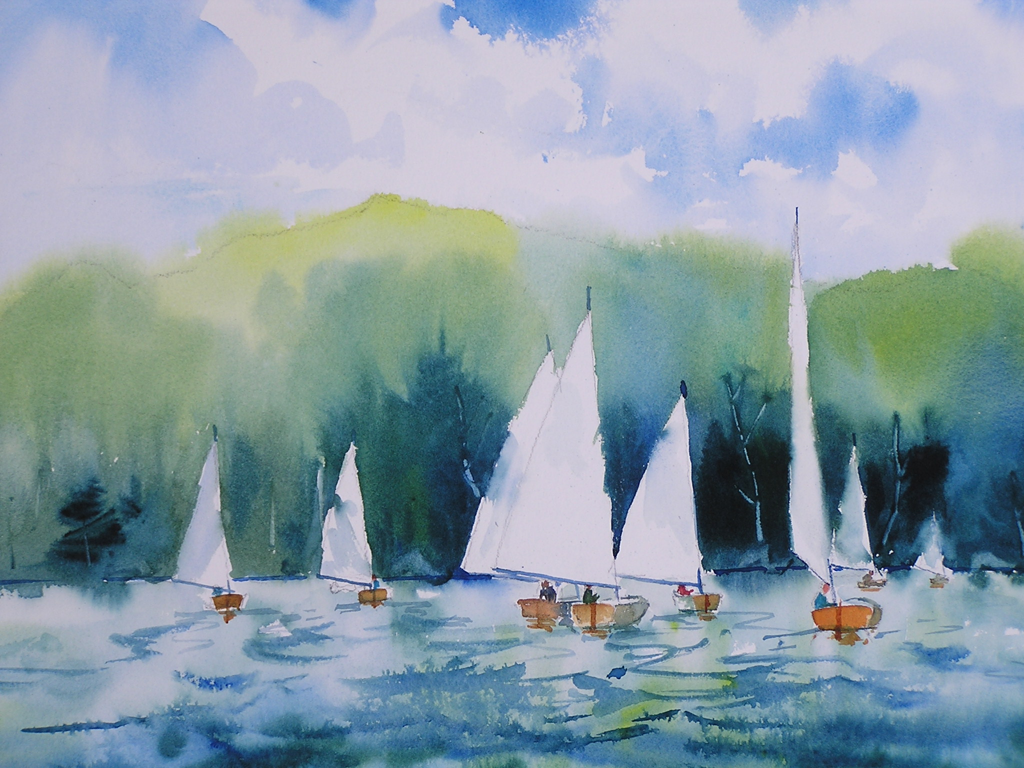Sailing regatta on Lake George, NY