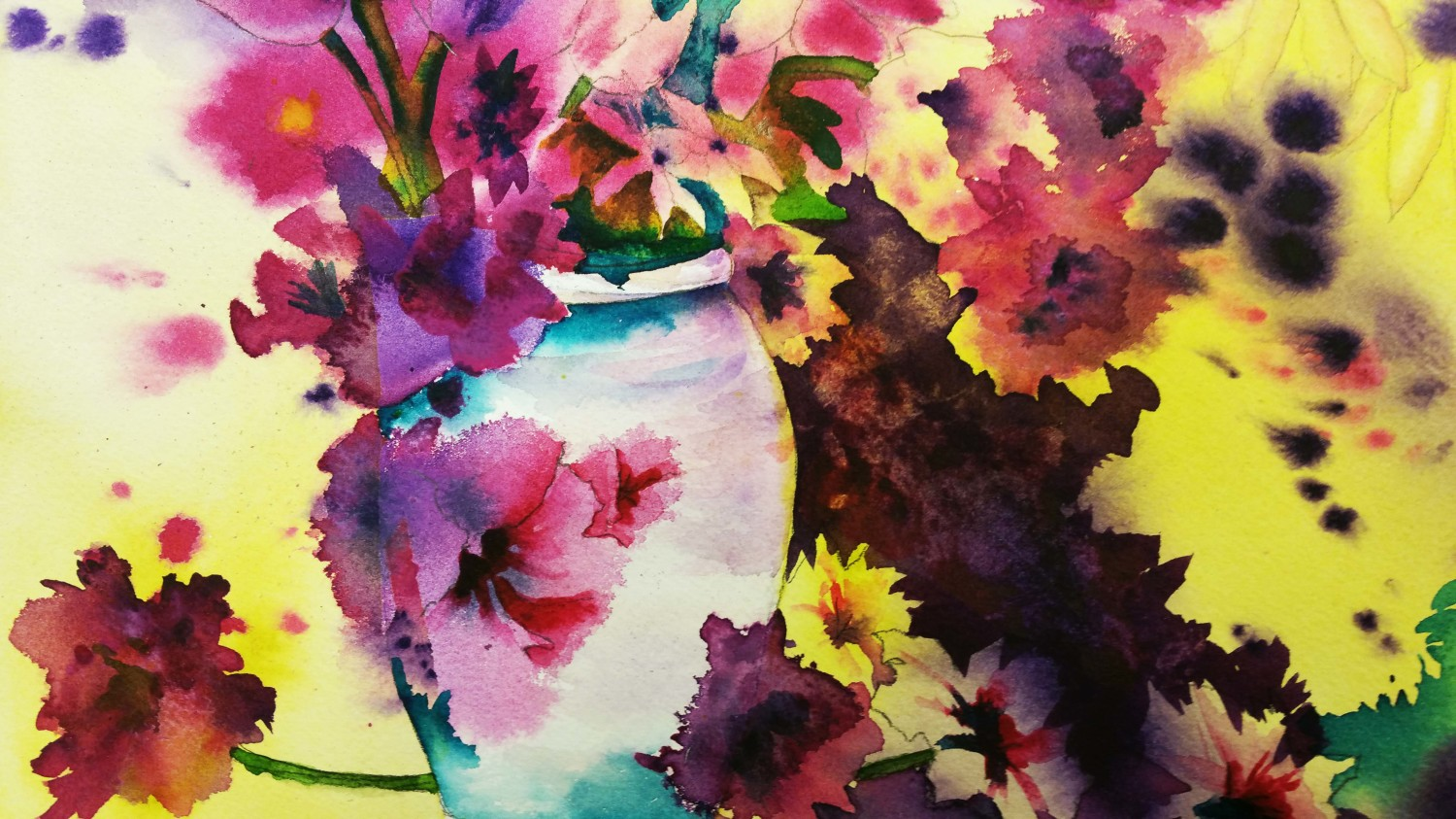 Abstract flowers by Sandy R.