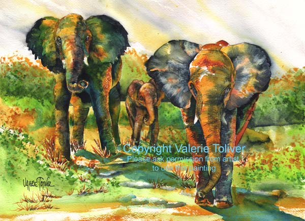Moving Proud! Watercolor Painting by Valerie Toliver