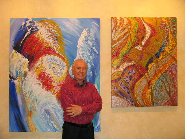William Eatmon in his Pebble Beach California Studio