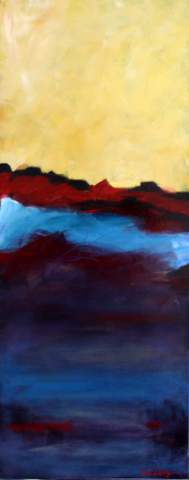 abstract landscape painting by Wendell Myers