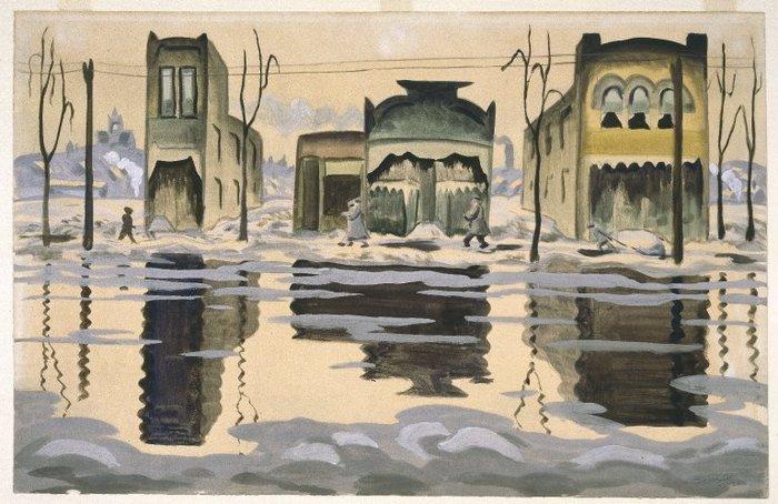 Brooklyn museum   february thaw   charles burchfield