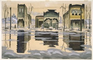 Brooklyn museum   february thaw   charles burchfield