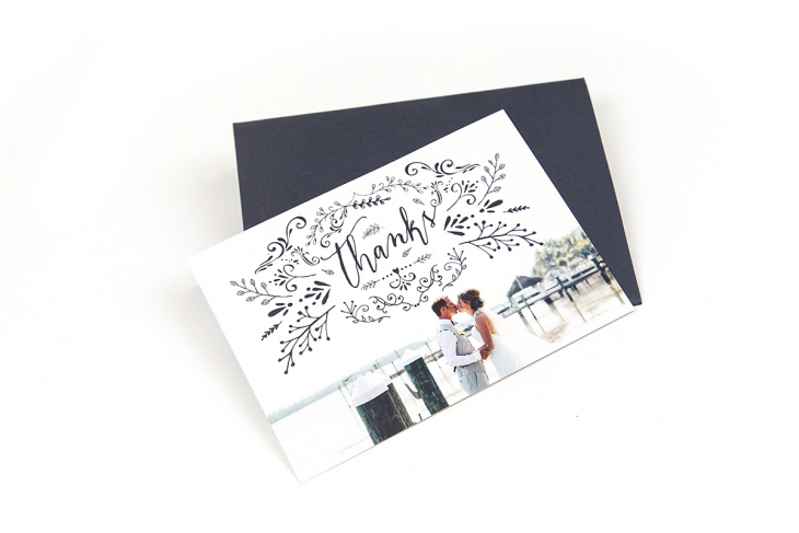 Handwritten hank you note for photographers