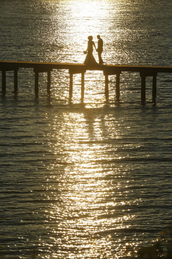 Wedding Photo at sunset by Bryce Lafoon Photography