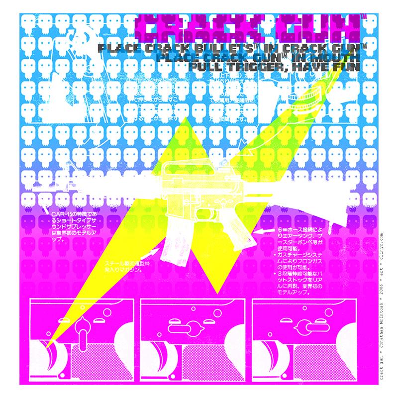 illustration -+- crack gun -+- aerwave / Jonathan McIntosh -+- 2006 -+- art -+- clinyc