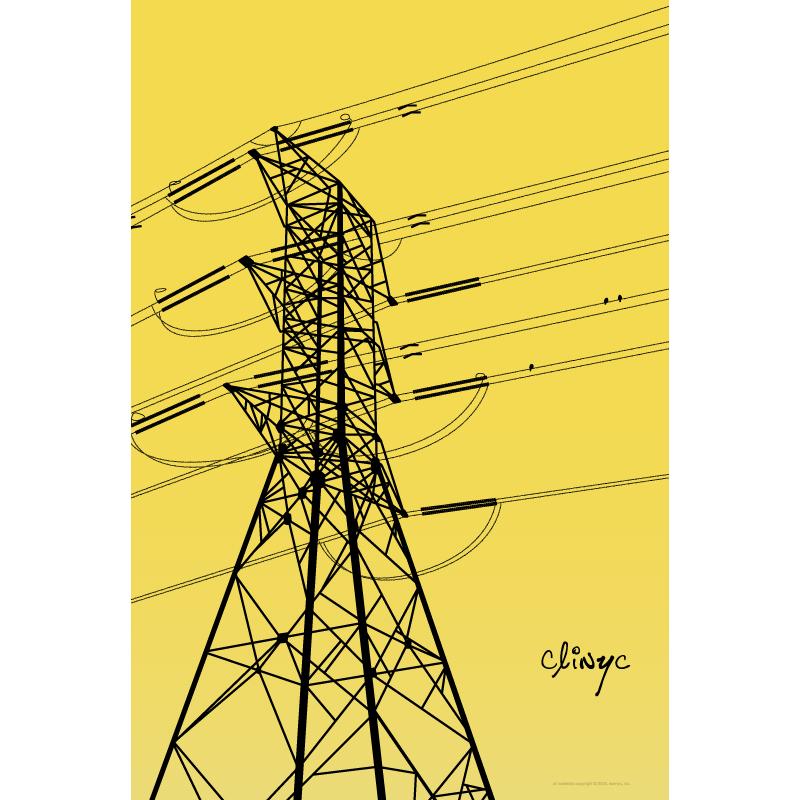 illustration -+- power lines -+- clinyc -+- 2005 -+- art -+- clinyc
