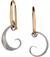 Image of Ed Levin Silver And 14k Gold Ebb Tide Earrings View 1