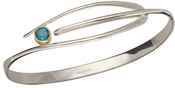 Image of Ed Levin Silver And 14k Gold Wink Bracelet With Blue Topaz View 2