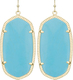 Image of Kendra Scott Danielle Gold Earrings in Turqouise Magnesite View 2