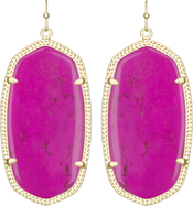 Image of Kendra Scott Danielle Gold Earrings in Magenta Magnesite View 1