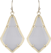 Image of Kendra Scott Alex Gold Earrings in Slate Cat's Eye View 1