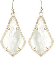 Image of Kendra Scott Alex Gold Earrings in Ivory Mother of Pearl View 1