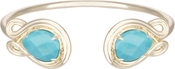 Image of Kendra Scott Andy Gold Bracelet in Turquoise Magnesite View 1