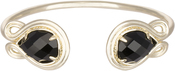 Image of Kendra Scott Andy Gold Bracelet in Black Opaque Glass View 1