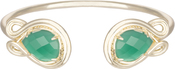 Image of Kendra Scott Andy Gold Bracelet in Green Translucent Glass View 1