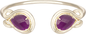 Image of Kendra Scott Andy Gold Bracelet in Purple Jade View 1