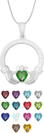 Claddagh Birthtones Pendants