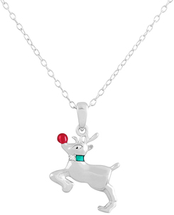 Image of A Silver Breeze 2014 Holiday Sterling Silver Diamond Accent Pendant Collection View 4
